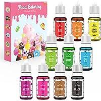 Colorante Alimentario Liquido 10x10ml Colorante Reposteria Alta Concentración Colorante Alimentario Para Colorear…