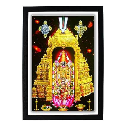 Buy God Balaji And Goddess Lakshmi Hd Photo Frame Venkateswara
