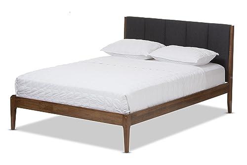 Baxton Studio Bella Mid-Century Wood Platform Bed