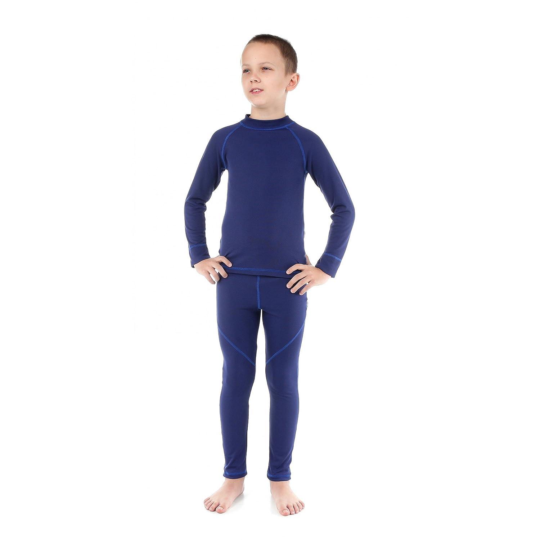 Kinder Thermounterwäsche Set Funktionsunterwäsche für Jungen und Mädchen Skiunterwäsche Unterhemd + Unterhose