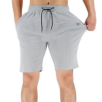 eae1bf763f Zenwow - Shorts de gymnastique Empire pour homme - Shorts de sport avec  poches pour entraînement