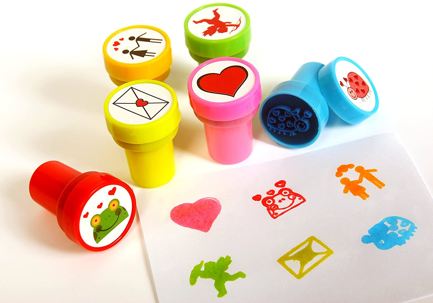Playscene Love Self Inking Stamps For Kids (LOVE - 24 PACK)