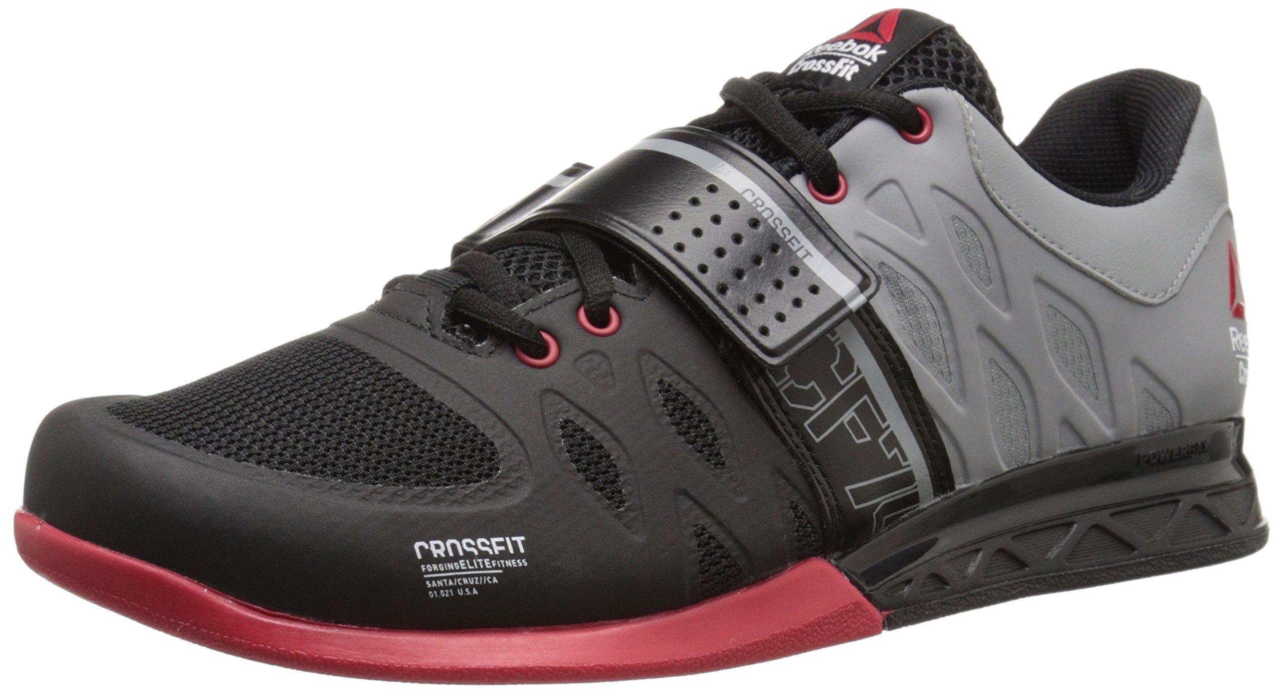 Reebok Men's R Crossfit Lifter 2.0 Training Shoe, Black/Flat Grey/Excellent Red, 13 M US