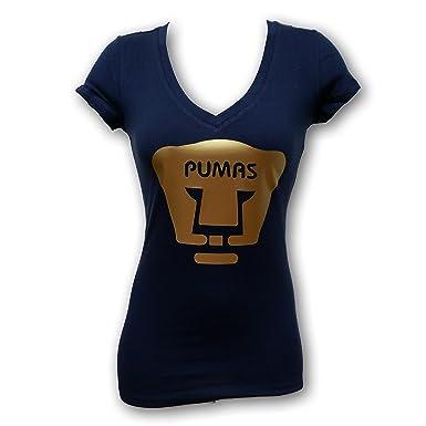 detailed look af8c7 0655c Pumas UNAM Ladies's Gold Color T-Shirt Slim Fit at Amazon ...