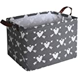 HIYAGON Rectangular Storage Box,Fabric Storage Bin for Organizing Toys,Collapsible Storage Basket for Baby, Kids or Pets,Clot