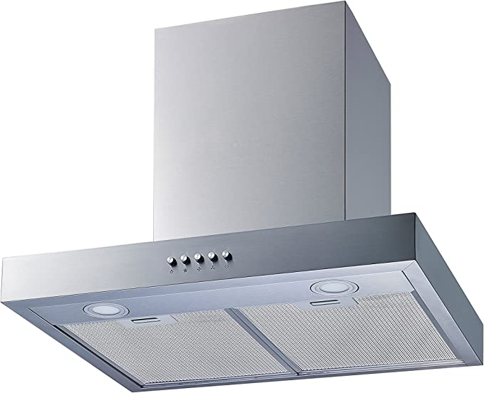 Ultra bright LED lights and Push Button 3 Speed Control Winflo New 36 Convertible Stainless Steel Wall Mount Range Hood with Aluminum Mesh filter
