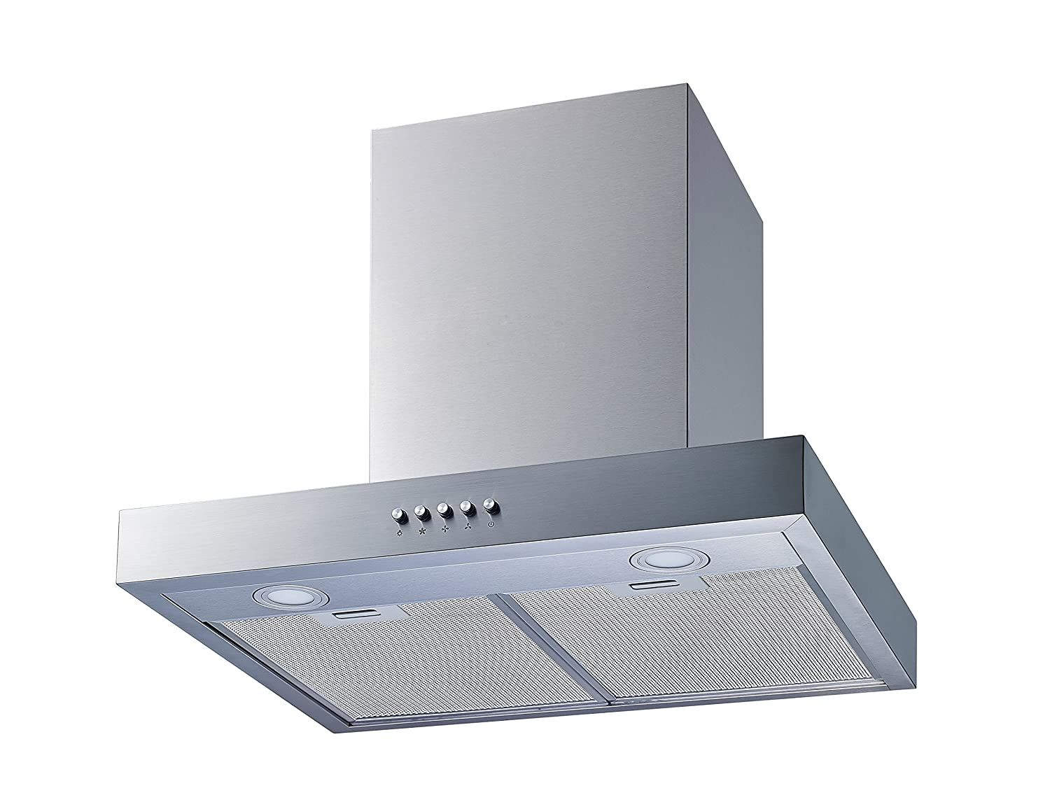 """Winflo New 30"""" Convertible Stainless Steel Wall Mount Range Hood with Aluminum Mesh filter, Ultra bright LED lights and Push Button 3 Speed Control"""