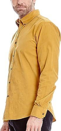 Cortefiel Camisa Pana Mostaza S: Amazon.es: Ropa y accesorios