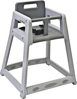 """product image for Koala Kare KB850-01-KD Diner Plastic High Chair, Gray (Unassembled), 5"""" Height, 27.25"""" Width, 21.875"""" Length"""