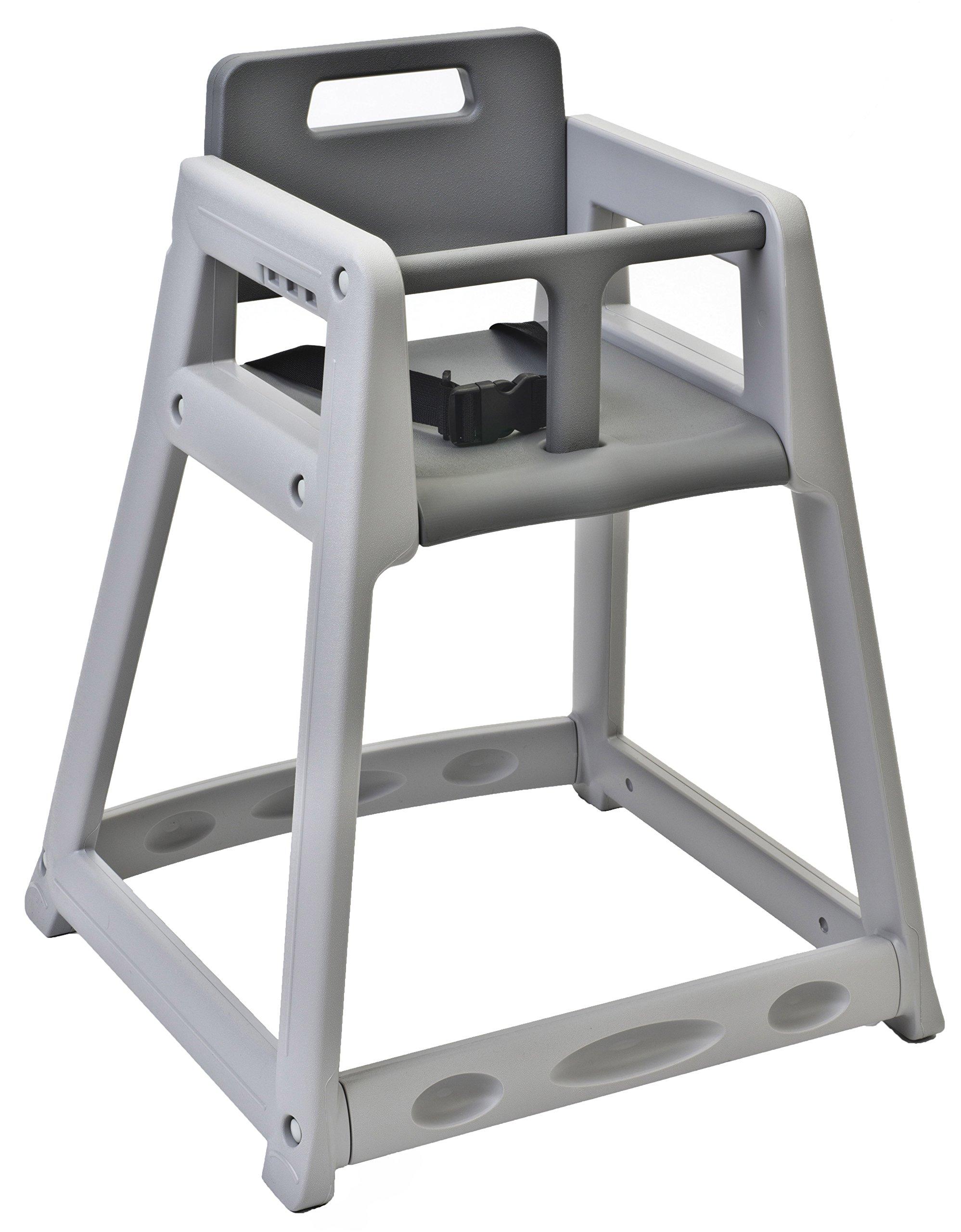 Koala Kare KB850-01 Diner Plastic High Chair, Grey , 23'' Height, 23'' width, 30'' Length