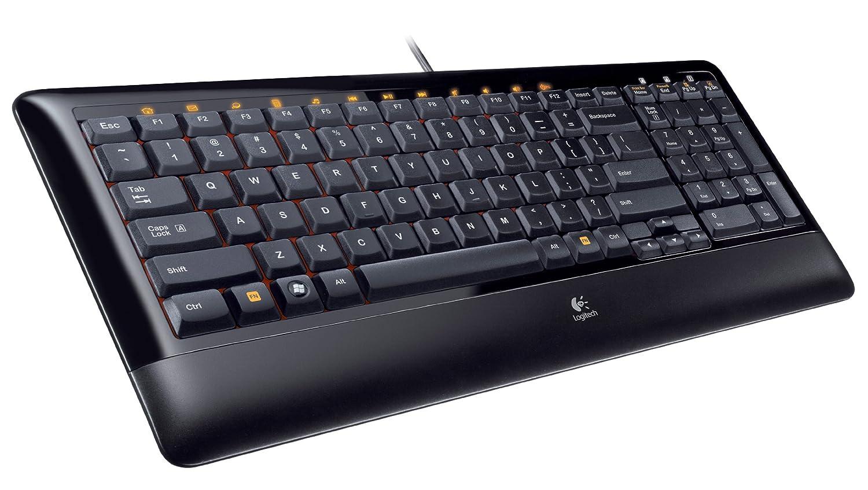 Logitech K300 - Teclado (USB, Negro, QWERTY, Win XP, Vista): Amazon.es: Informática