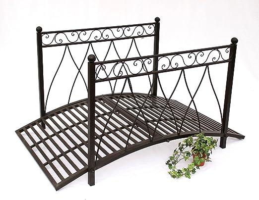Metal puente 111252 puente de hierro 145 cm puente del jardín decoración del jardín de puente: Amazon.es: Jardín
