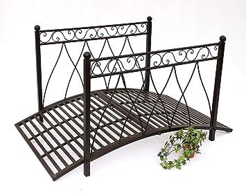 Metal bridge 111252 Iron bridge 145 cm Garden bridge Metal bridge ...