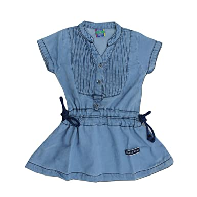 7b7201d61b Kid s Care Fashion Baby Girl Infant Denim Jeans Frock Dress for  Kids(DD918)  Amazon.in  Clothing   Accessories