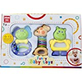 Toyhouse THJL388-3 THJL388-3 Baby Playing Bed Bell Toy, Multi Color