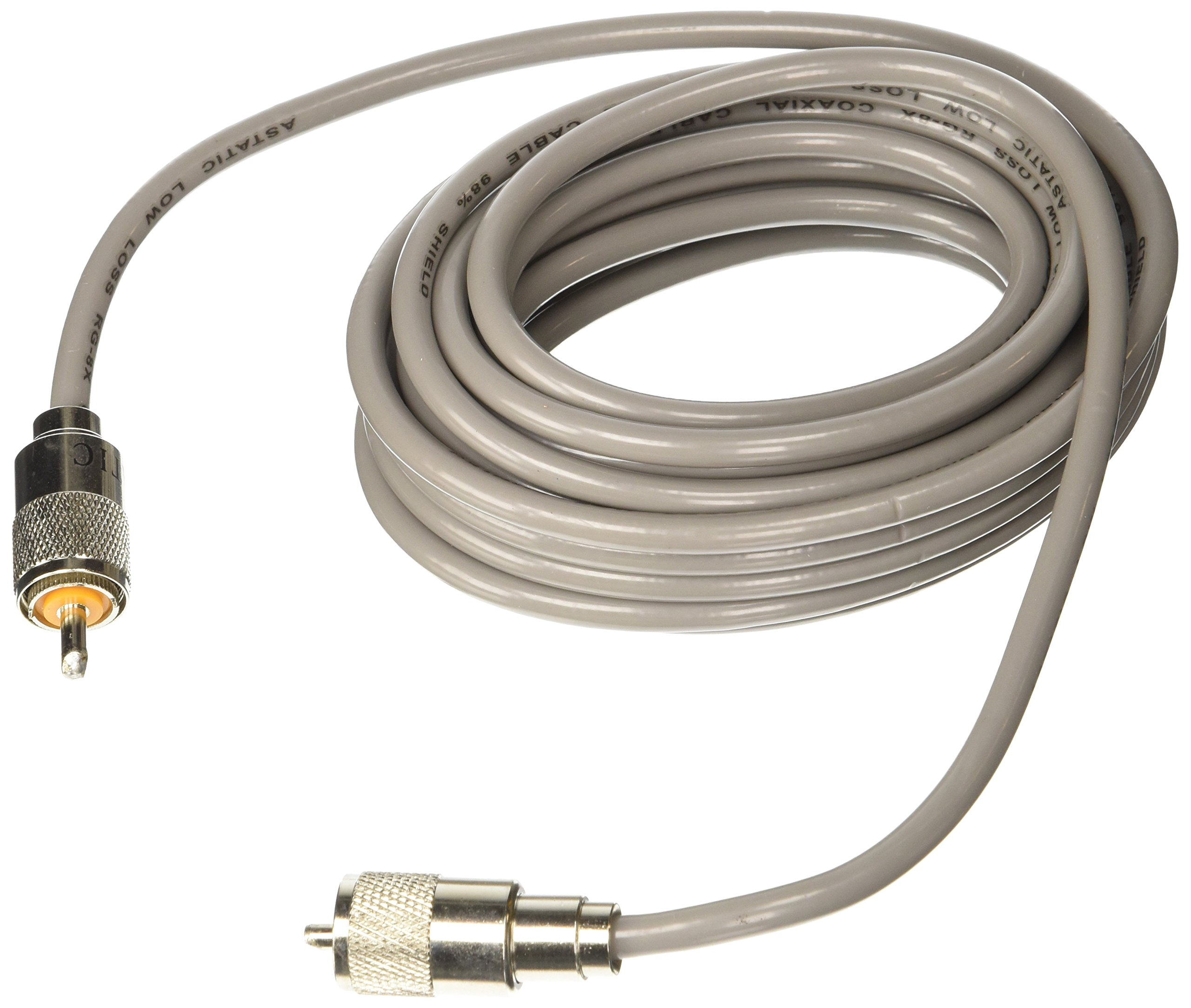 Astatic 302-10267 Gray 18' Mini 8 Coaxial Cable by Astatic