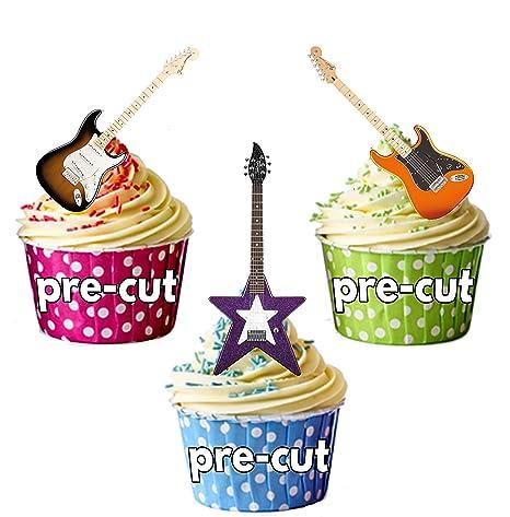 Guitarra eléctrica paquete de fiesta mezcla comestible - stand-up primeros de la magdalena (