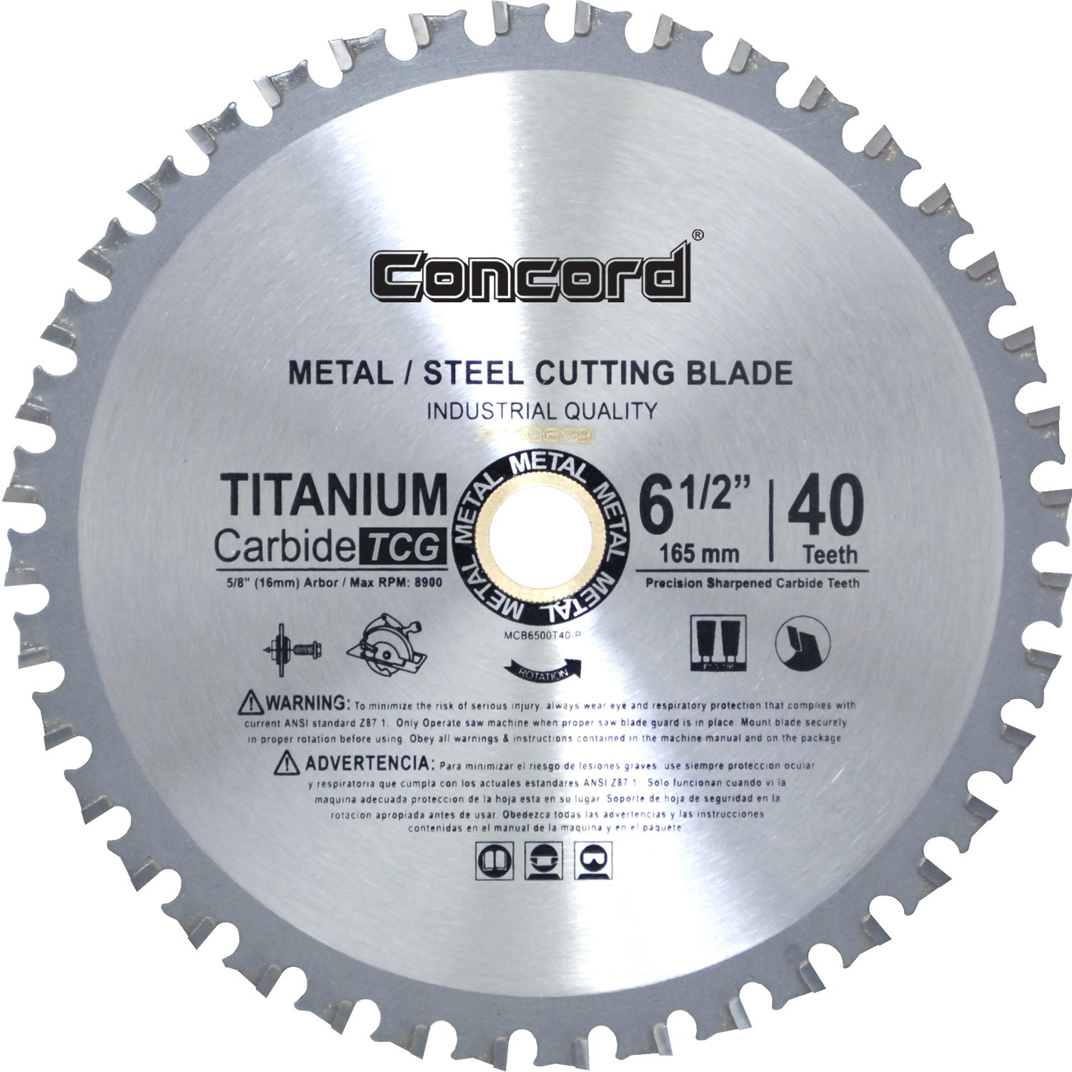 Concord blades mcb0650t040hp 6 12 inch 40 teeth tct ferrous metal concord blades mcb0650t040hp 6 12 inch 40 teeth tct ferrous metal cutting blade amazon keyboard keysfo Gallery