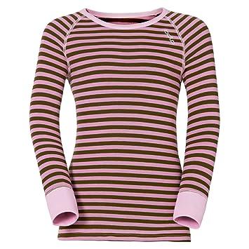 Odlo Shirt l/s Crew Neck Warm Kids Ropa Interior, Infantil, winterrose,