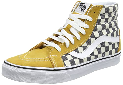 a80c99e1d9d Vans SK8-Hi Reissue Checkerboard Spruce Yellow Navy Skate Shoes  Amazon.ca   Shoes   Handbags
