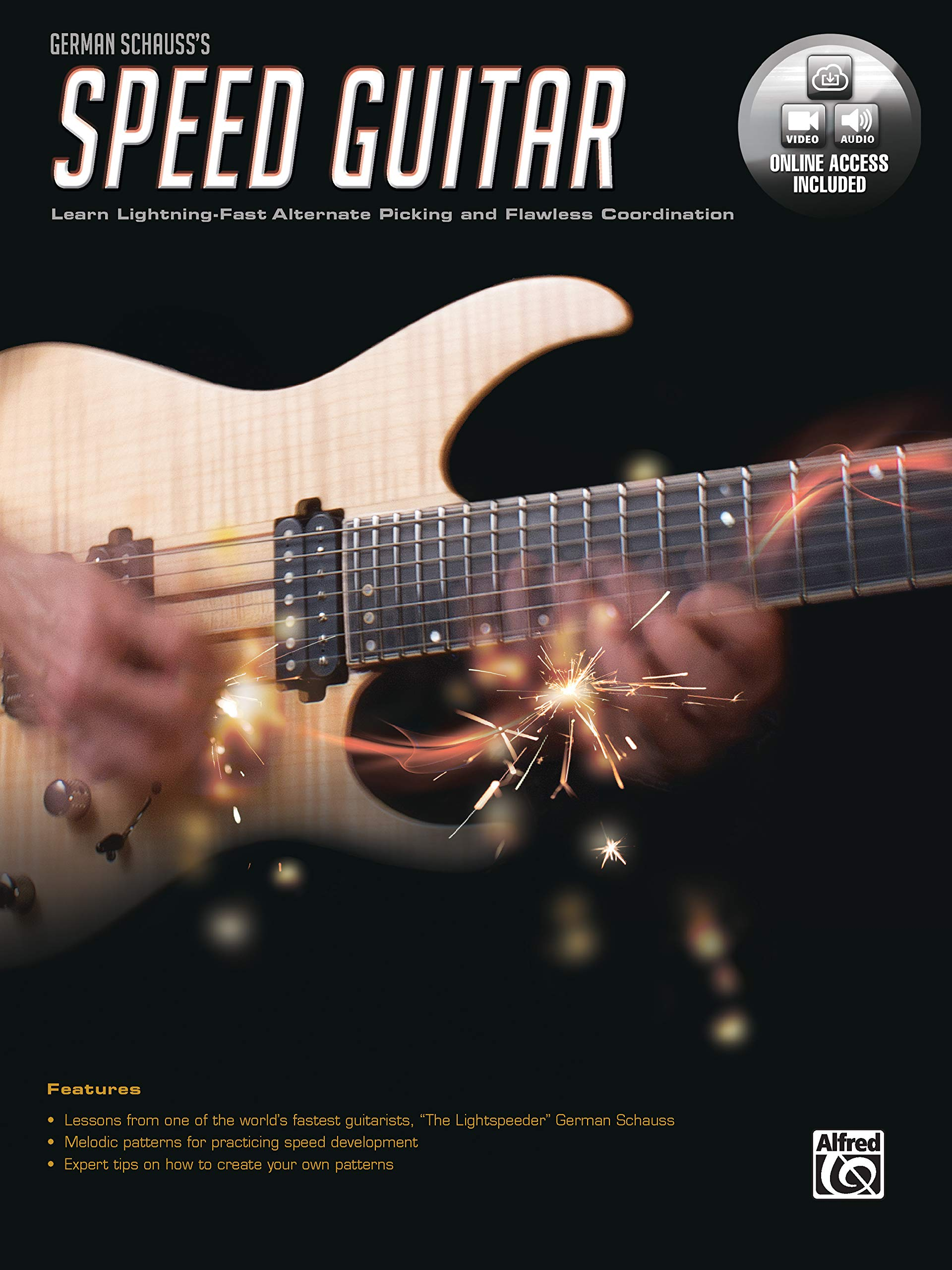 German Schausss Speed Guitar: Learn Lightning Fast Alternate Picking and Coordination, Book & Online Audio & Video: Amazon.es: German Schauss: Libros en ...