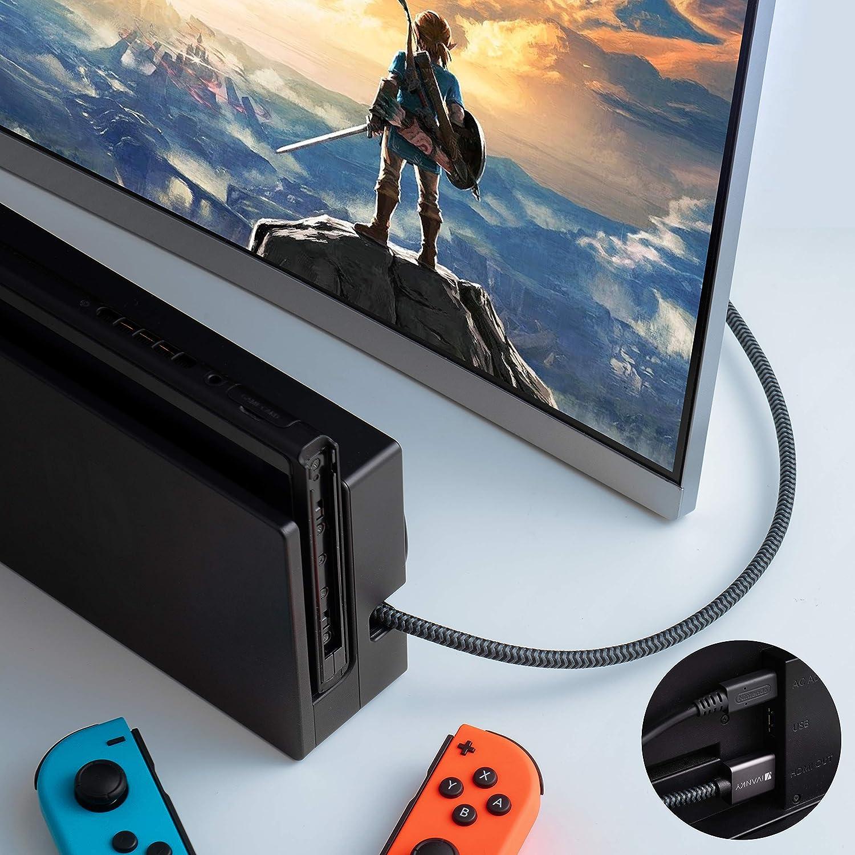 iVanky C/âble HDMI 2.0 en Nylon Tress/é Supporte Ethernet//3D//Retour Audio 4K Ultra HD Gris Sid/éral C/âble HDMI 3m - Garantie /à Vie Cordon HDMI 3m pour Lecteur Blu-ray//Xbox//PS4//TV 4K UHD//Ecran