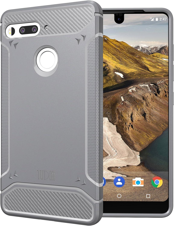 TUDIA Essential Phone Funda, Ultra Delgado Fibra de Carbon TAMM ...