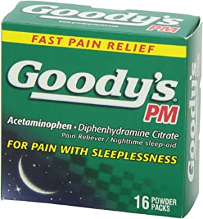 product image for 4 Packs of 16 Goody's PM Acetaminophen Diphenhydramine Citrate Pain Reliever/ Nighttime sleep aid
