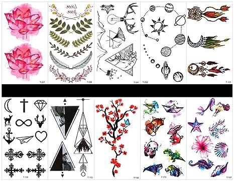 tatuajes temporales de plumas en un solo paquete, diseños mixtos como lote, plumas,