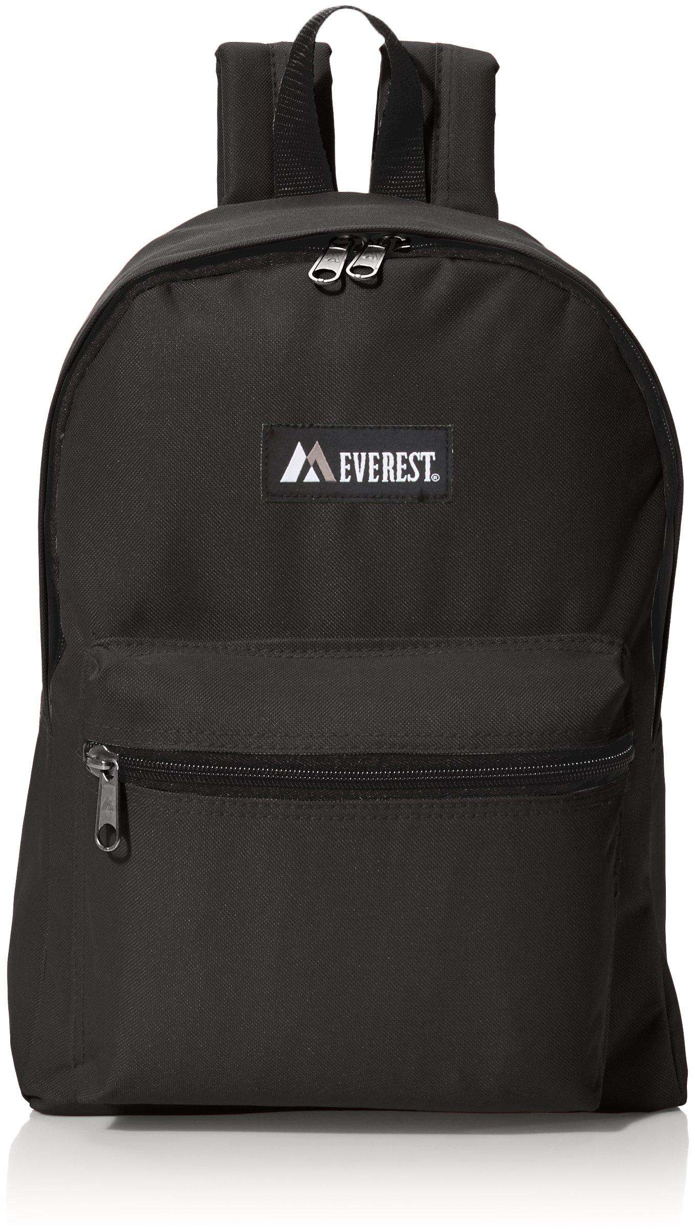 Everest Luggage Basic Backpack, Black, Medium by Everest