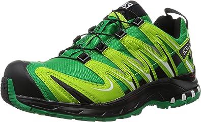 Salomon - Zapatillas para correr en montaña de genérico para hombre, Athletic Green/Black/Granny Green, 40: Amazon.es: Deportes y aire libre