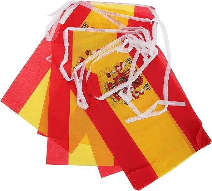 Guirnalda bandera de España para celebraciones (5 metros) (5M/Rojo/Amarillo): Amazon.es: Ropa y accesorios