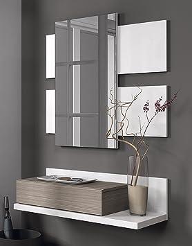 Habitdesign 0B6742BO Meuble d\'entrée avec tiroir et miroir Couleur ...