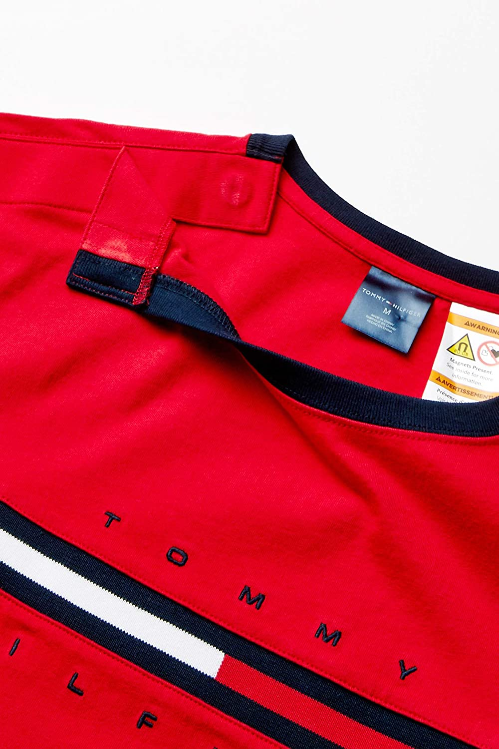 Tommy Hilfiger Mens Adaptive T Shirt with Magnetic Buttons at Shoulders T-Shirt