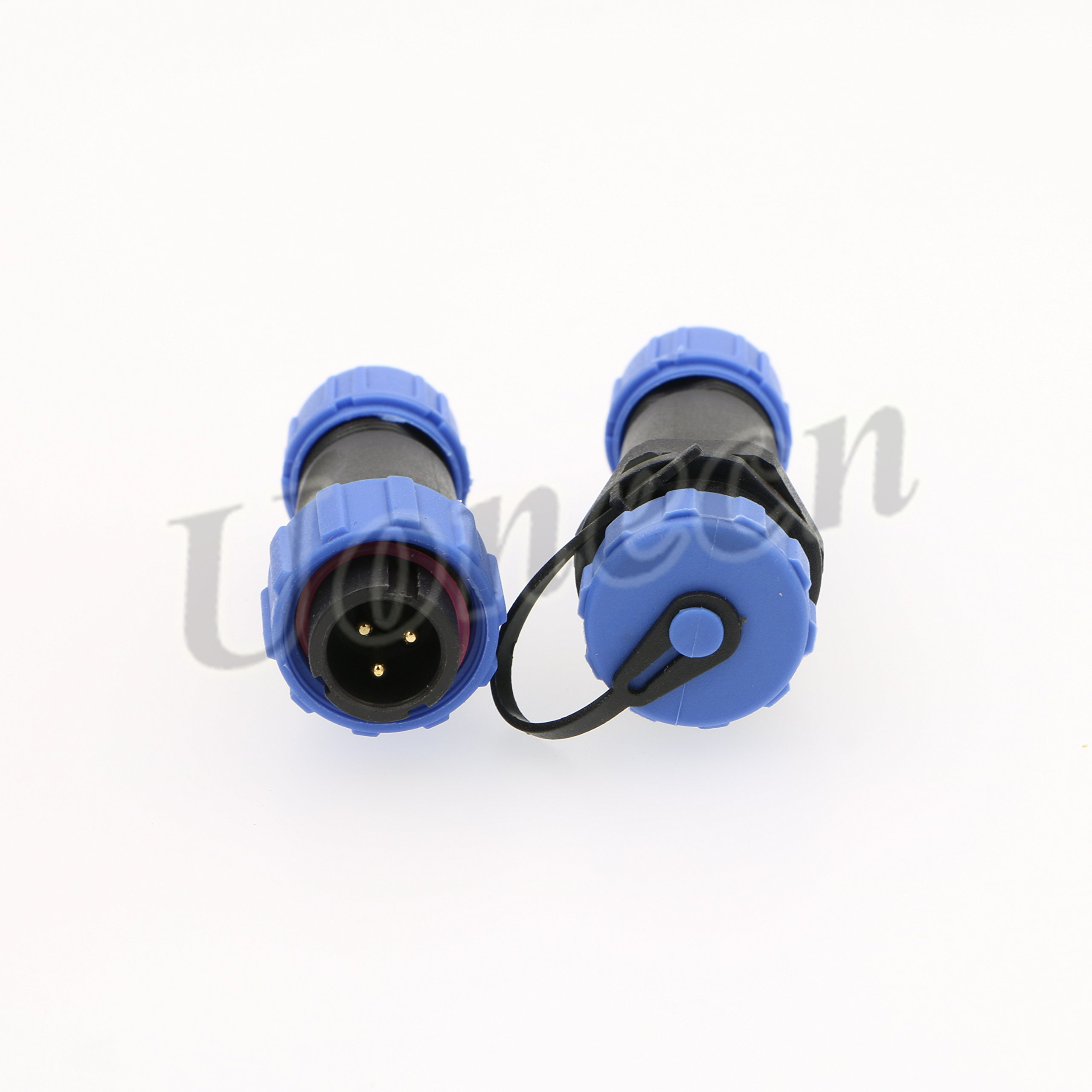 Uonecn SP13 IP68 Waterproof 3 Pin Power Plug Connector 5 pcs ircular Kit Male Plug Female Socket 3 Pin LED High Power Connectors