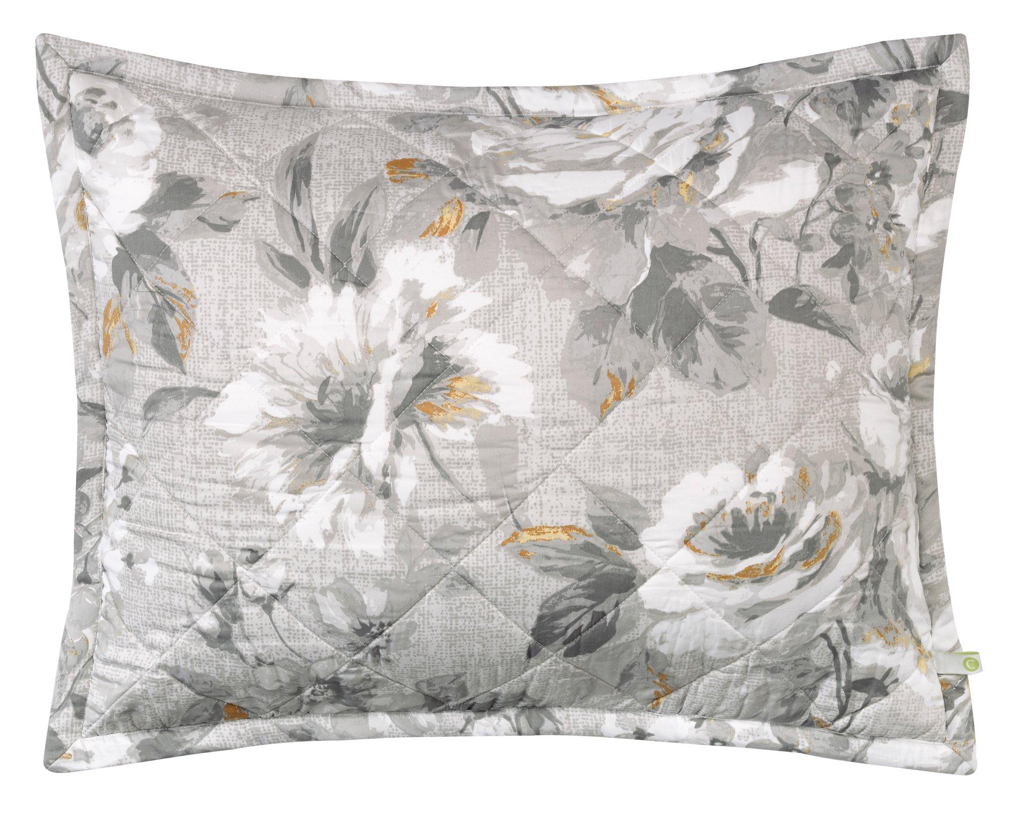Company C Moonlit Pillow Shams, King, Grey