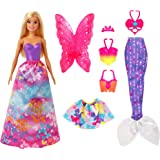 Barbie Dreamtopia Dress Up Doll Gift Set, 12.5-Inch, Blonde with Princess, Fairy and Mermaid Costumes, Gift for 3 to 7…