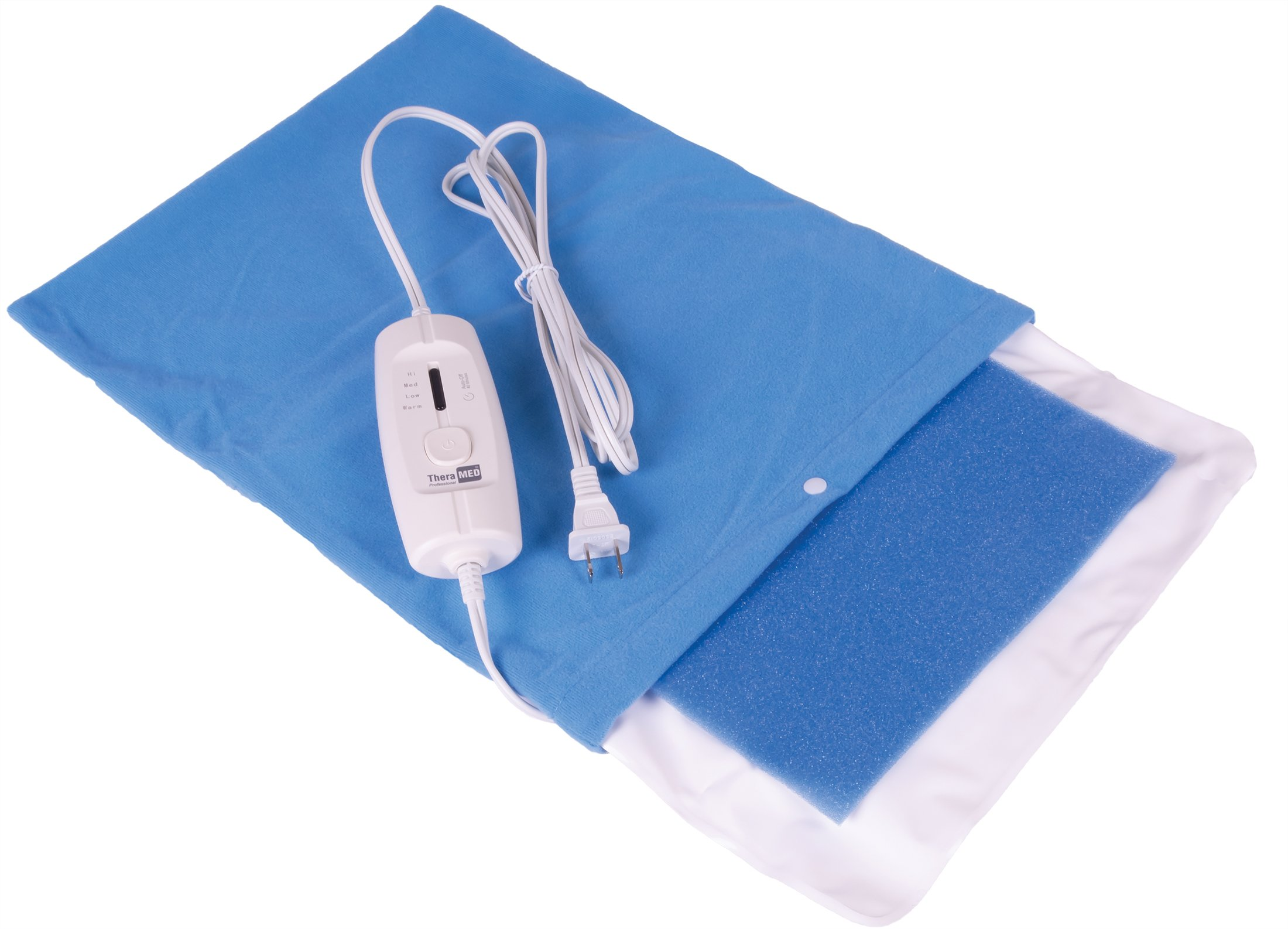 """Thera-Med Professional Dual Moist-Dry Electric Heating Pad with Auto Shut Off, Medium 12"""" x 15"""""""