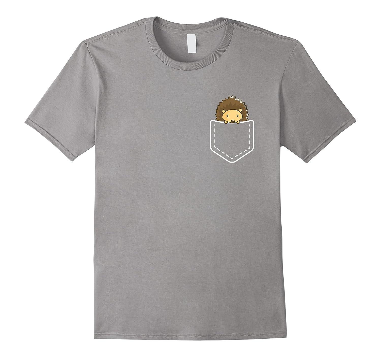6c54892a Hedgehog In Your Pocket T-Shirt – Funny Peeking Animal Tee-CD – Canditee