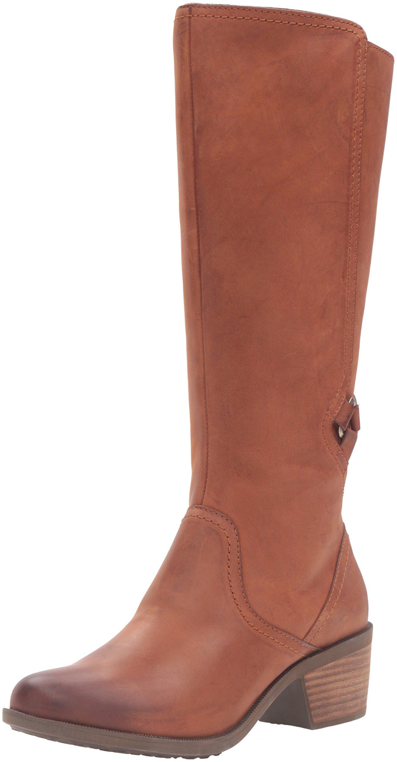 Teva Women's W Foxy Tall Leather Boot,Cognac,7.5 M US