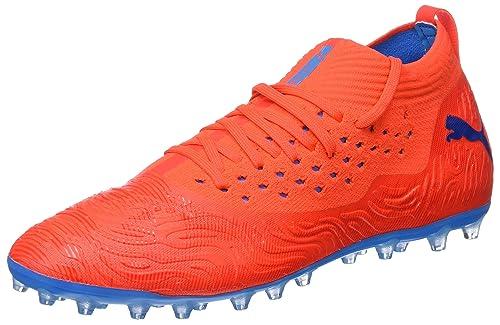 7f1f33ce3 Puma Men's's Future 19.2 Netfit Mg Football Shoes Red Blast-Bleu Azur ...