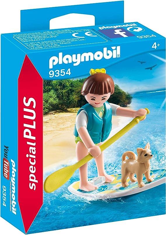 PLAYMOBIL- Paddle Surf Juguete, Multicolor (geobra Brandstätter ...