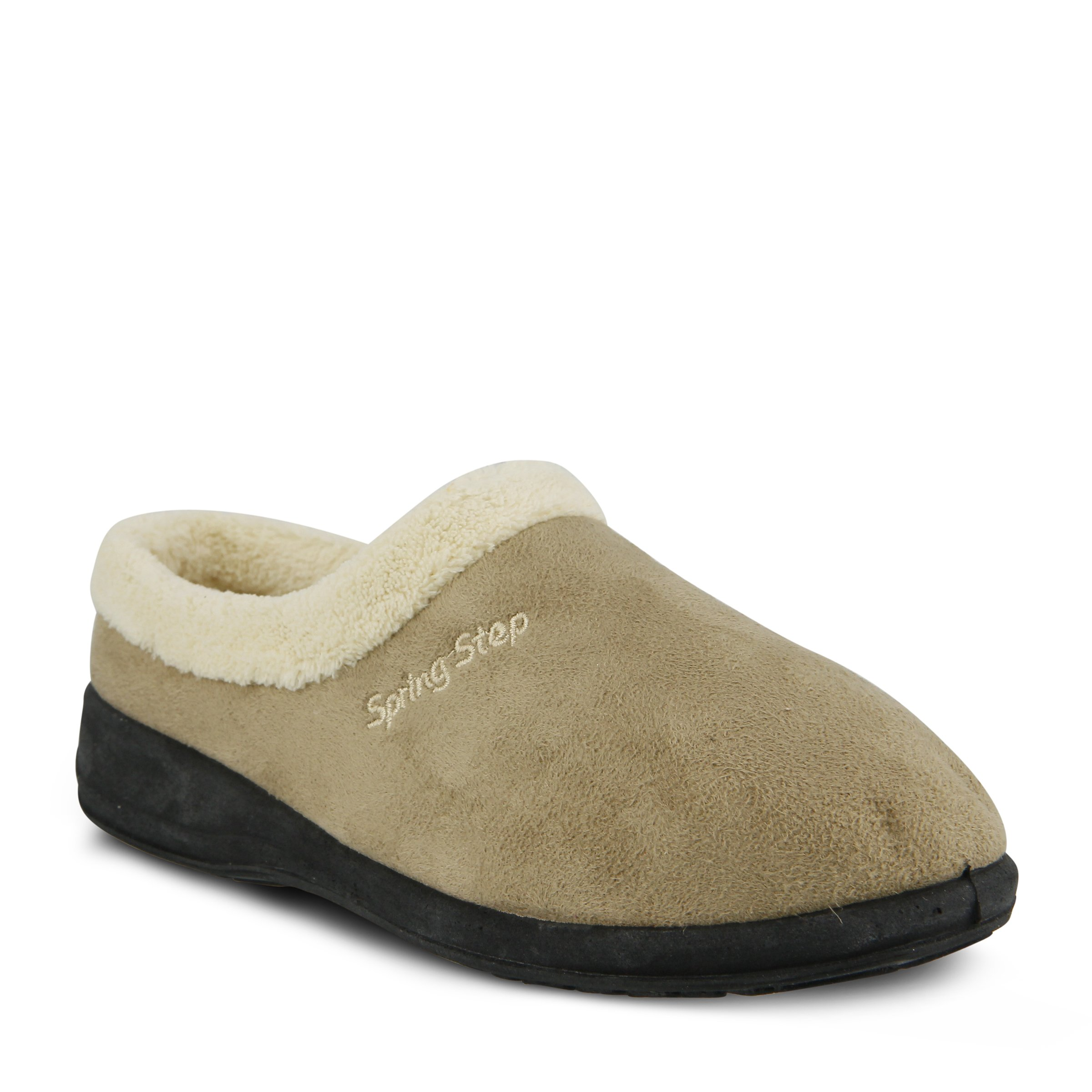 Spring Step Women's Ivana Slip On Slipper, Beige, 36 EU/5.5-6 M US