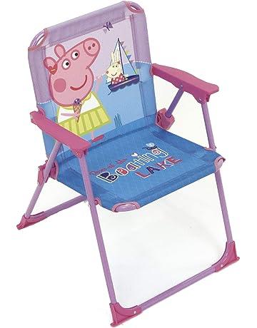 ARDITEX Silla Plegable para niños bajo Licencia Peppa Pig en Metal Dimensiones: 38 x 32