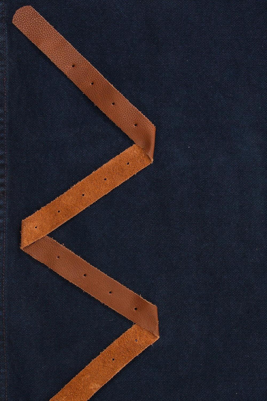 English Navy for Home use Leather Straps Baris CHORLTONEN USKEES CHORLTON Denim Bib Apron