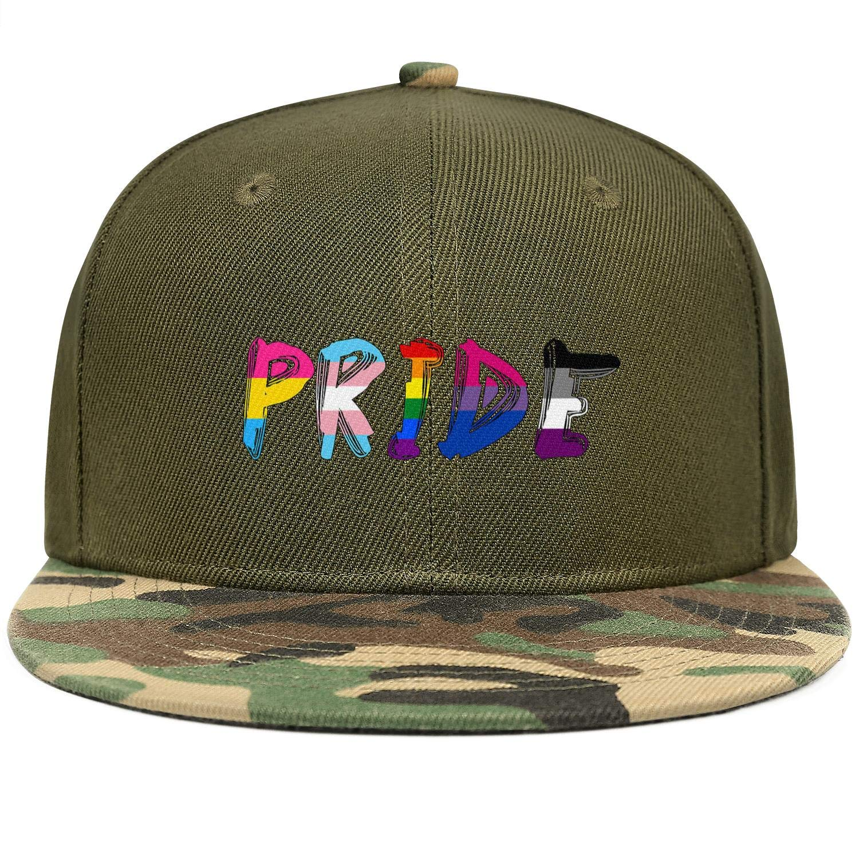 Gay Pride Rainbow Logo Unisex Baseball Cap Breathable Sun Hats Adjustable Trucker Caps Dad-Hat