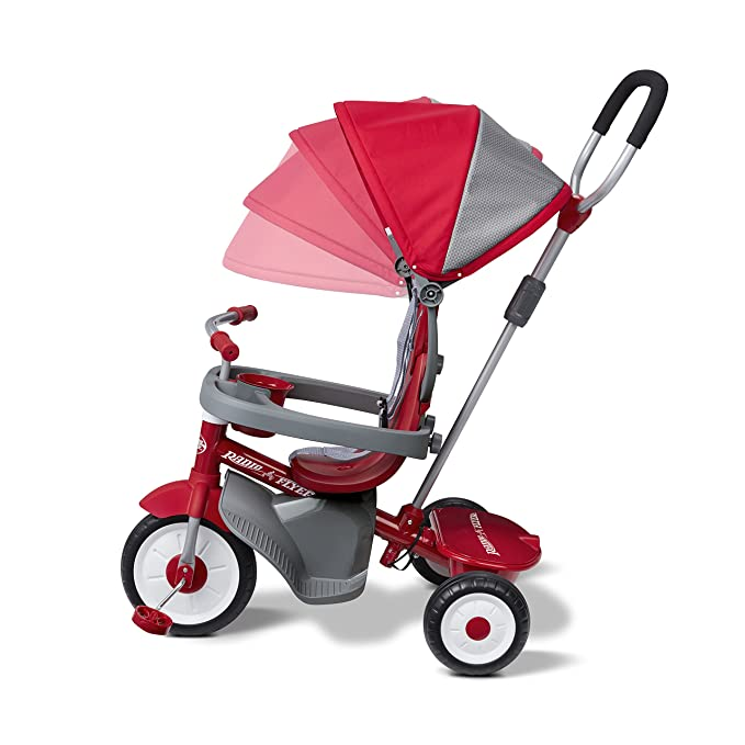 Amazon.com: Radio Flyer 4-en-1 Triciclo Stroll N Trike, Rojo ...