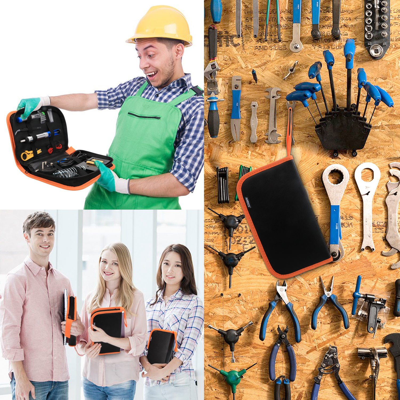ANBES Soldering Iron Kit Electronics, 60W Adjustable Temperature Welding Tool, 5pcs Soldering Tips, Desoldering Pump, Soldering Iron Stand, Tweezers by ANBES (Image #6)
