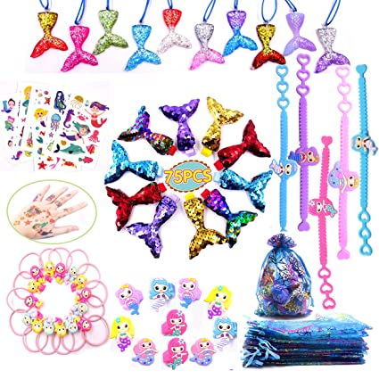 Amazon.com: Mermaid Party Favors Kit de suministros, 75 ...
