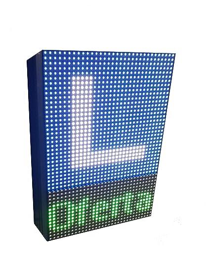 Rótulo LED programable para Autoescuelas (32x48 cm Doble Cara) RGB / Pantallas LED electrónicas Logo y Texto / Carteles LED Luminosos Exterior / ...